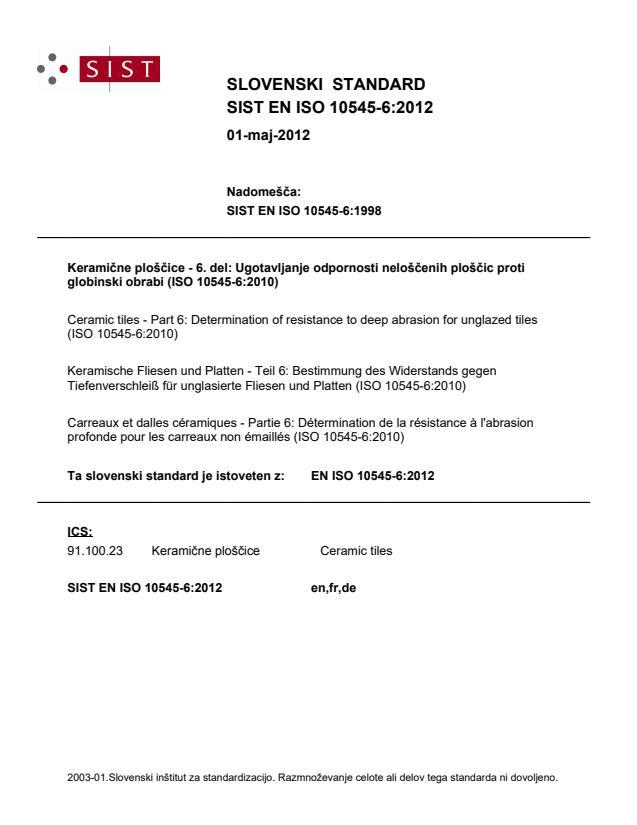EN ISO 10545-6:2012