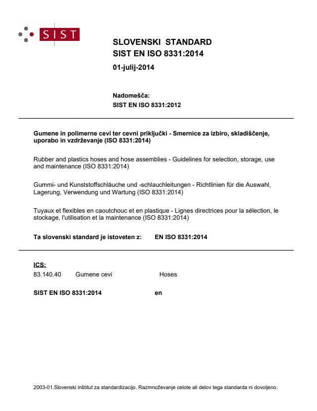 EN ISO 8331:2014