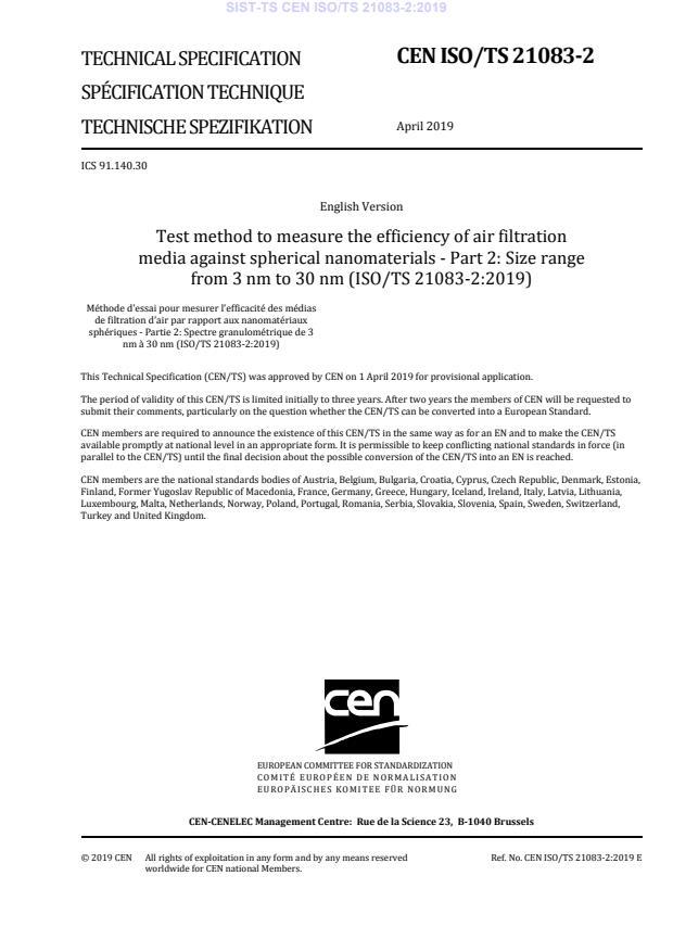 SIST-TS CEN ISO/TS 21083-2:2019