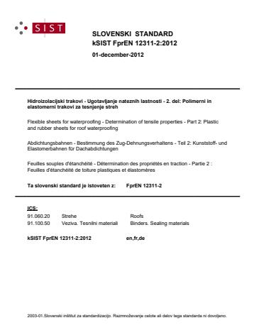 kSIST FprEN 12311-2:2012