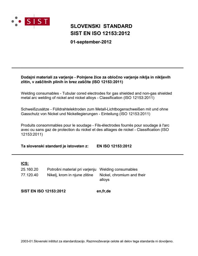 SIST EN ISO 12153:2012