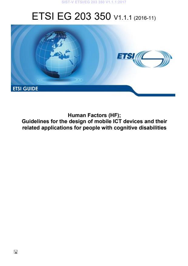 SIST-V ETSI/EG 203 350 V1.1.1:2017