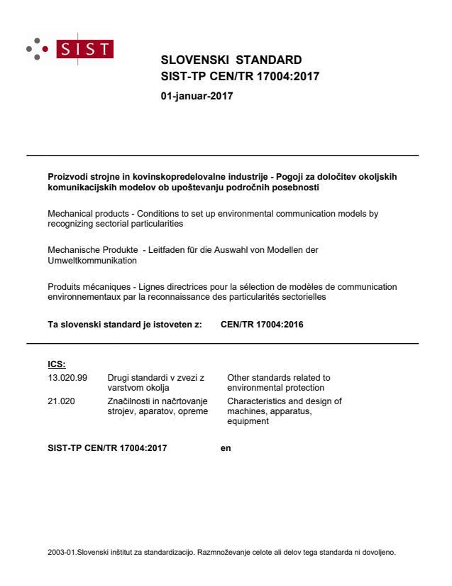 SIST-TP CEN/TR 17004:2017 - BARVE na PDF-str 12,16,17