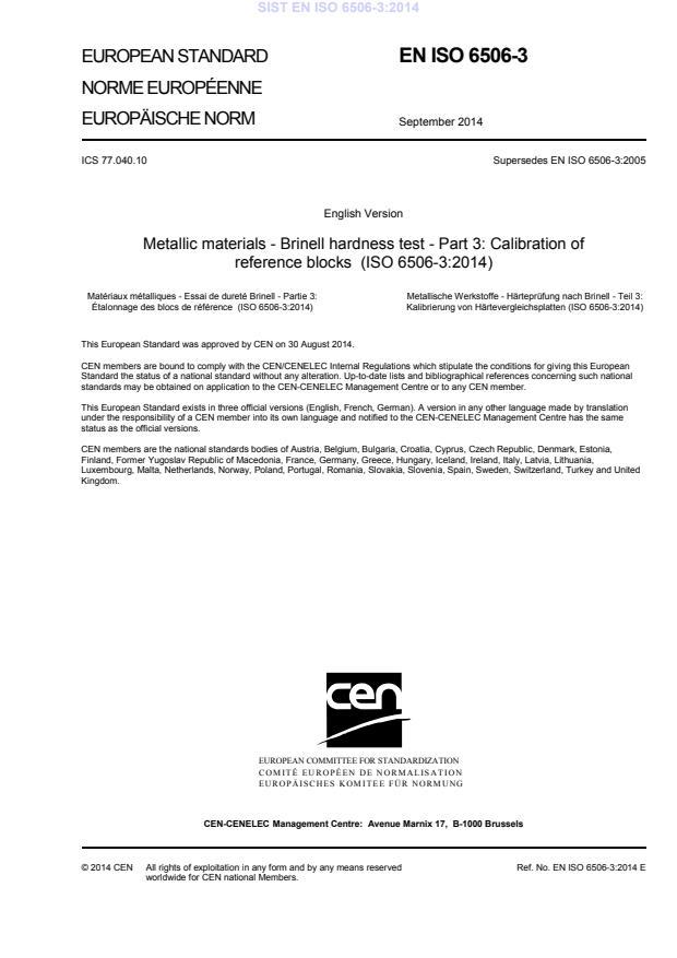 EN ISO 6506-3:2014