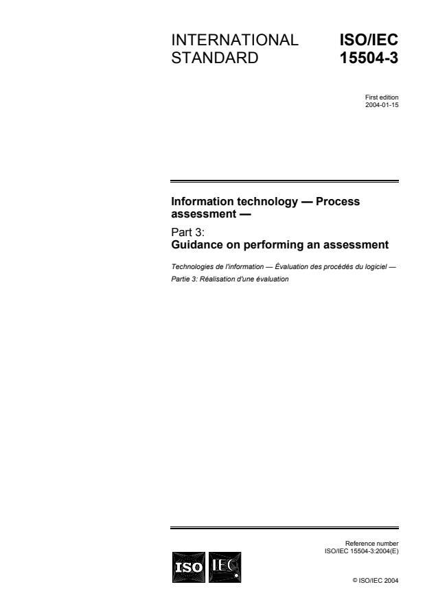 ISO/IEC 15504-3:2004 - Information technology -- Process assessment