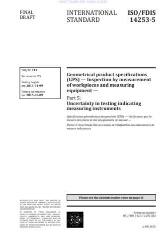 kSIST FprEN ISO 14253-5:2015