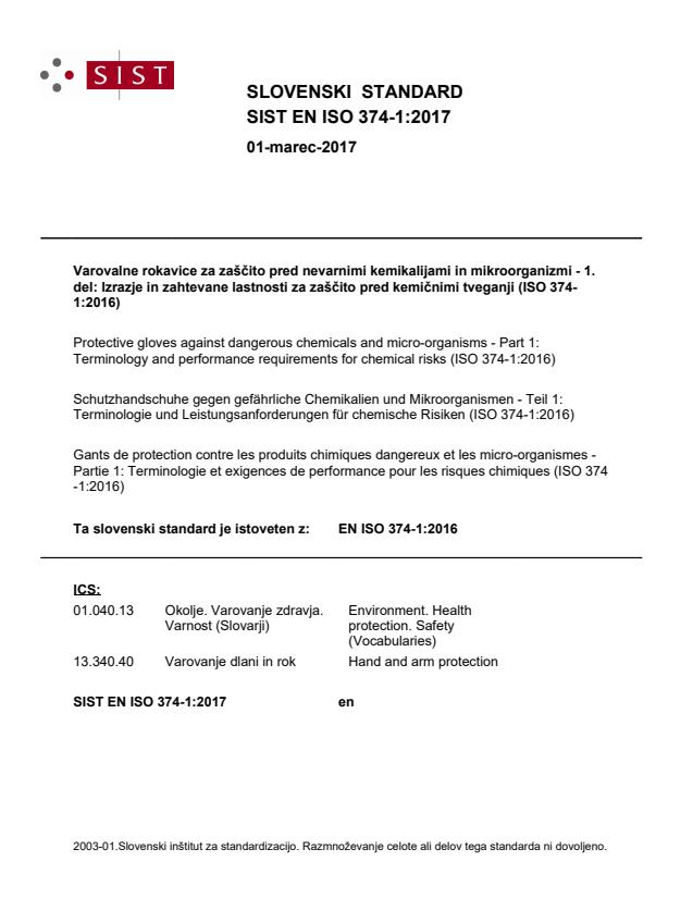 SIST EN ISO 374-1:2017