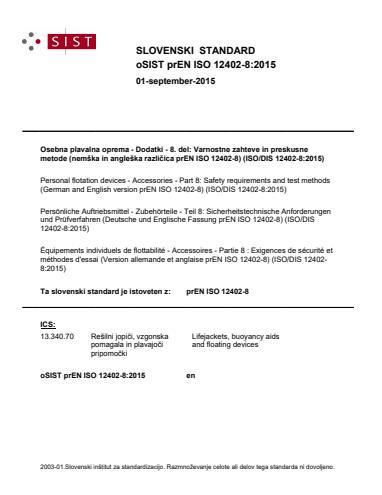 SIST EN ISO 12402-8:2020
