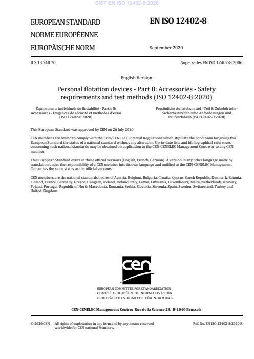 EN ISO 12402-8:2020