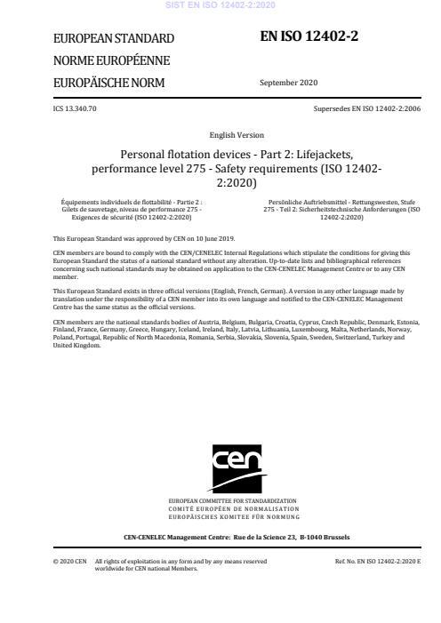 EN ISO 12402-2:2020