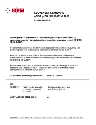 SIST EN ISO 12402-6:2020