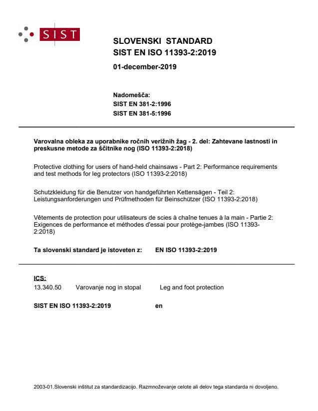 EN ISO 11393-2:2019