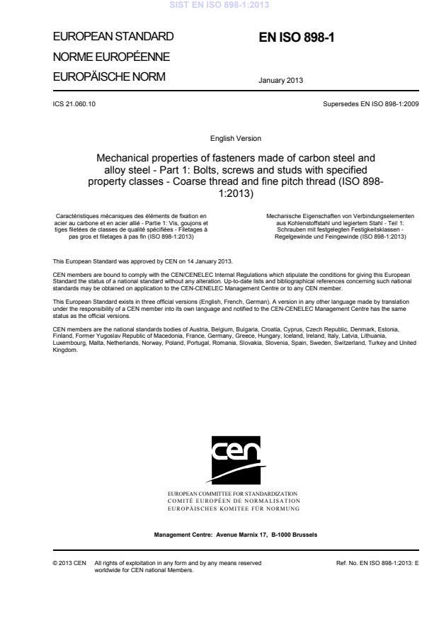 EN ISO 898-1:2013