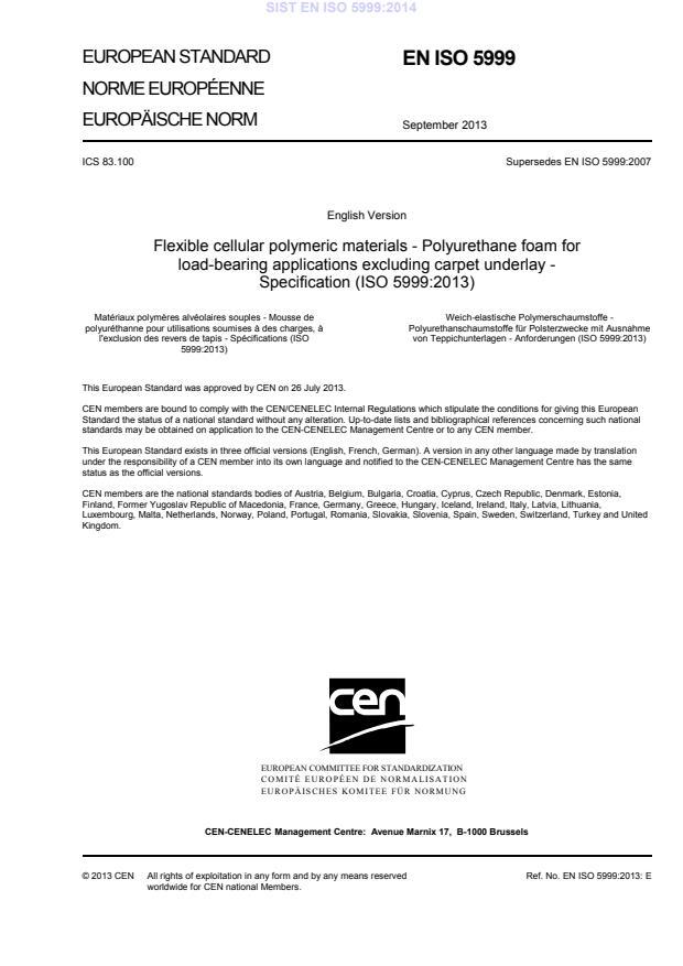 EN ISO 5999:2014