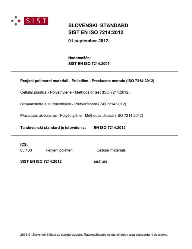 EN ISO 7214:2012