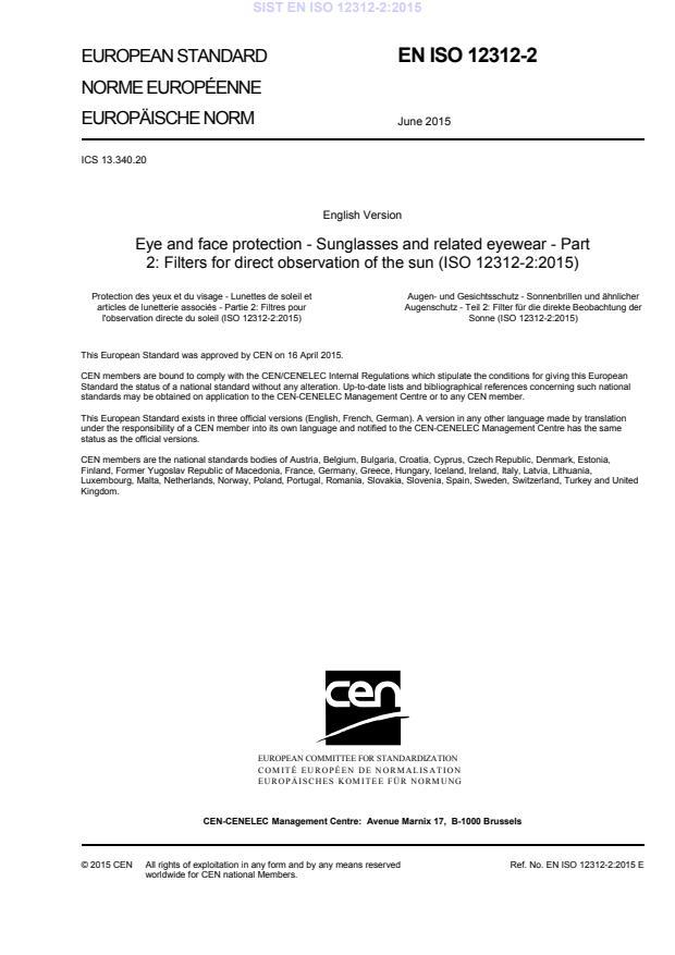 EN ISO 12312-2:2015