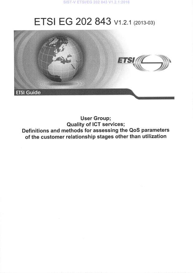 SIST-V ETSI/EG 202 843 V1.2.1:2016