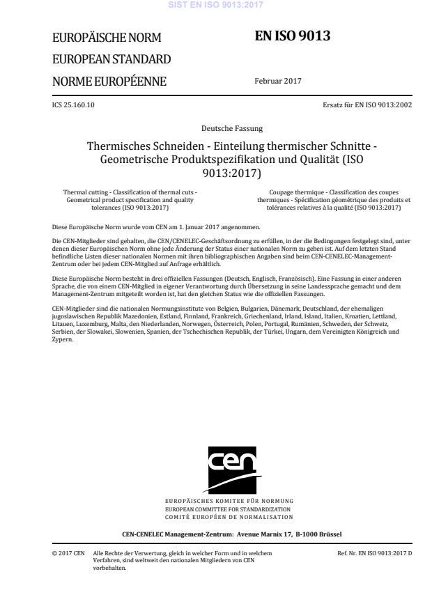 EN ISO 9013:2017 (DE)
