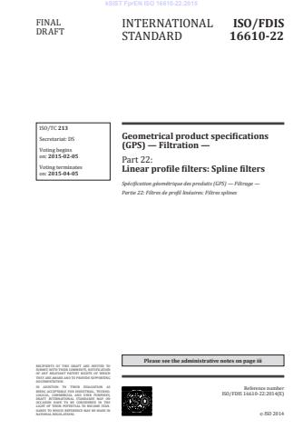 FprEN ISO 16610-22:2015