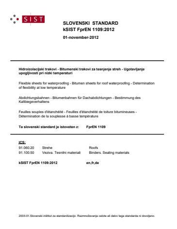 kSIST FprEN 1109:2012