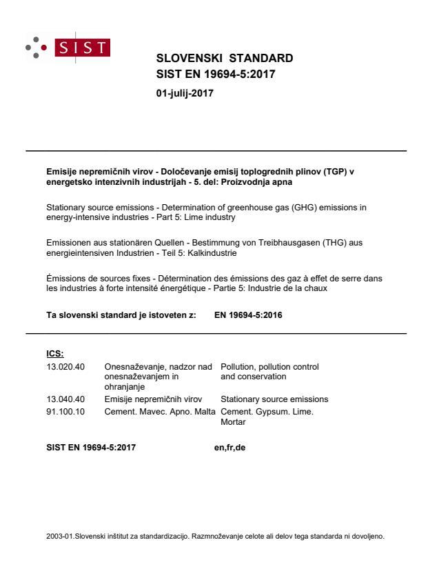 SIST EN 19694-5:2017
