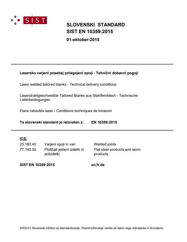 EN 10359:2015