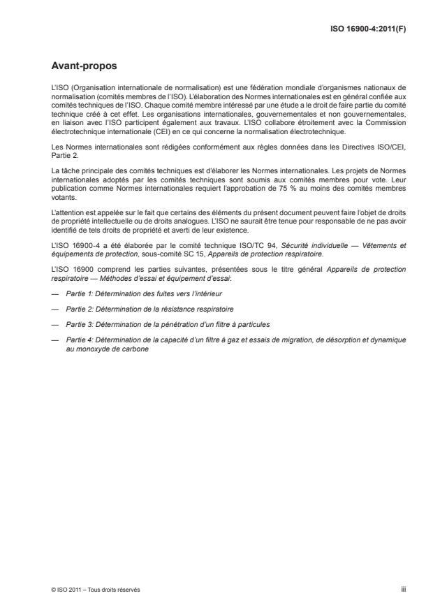 ISO 16900-4:2011 - Appareils de protection respiratoire -- Méthodes d'essai et équipement d'essai