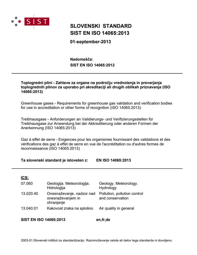 EN ISO 14065:2013