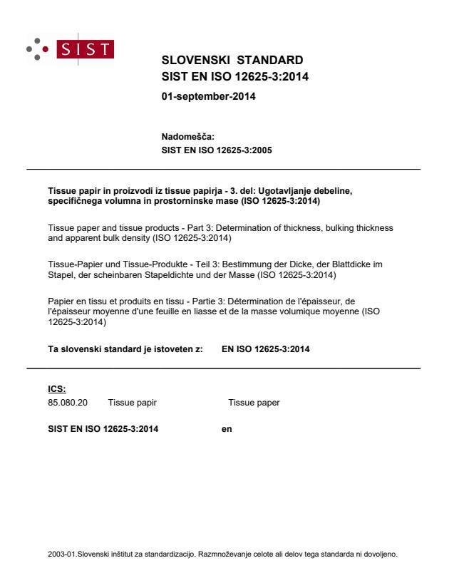 EN ISO 12625-3:2014