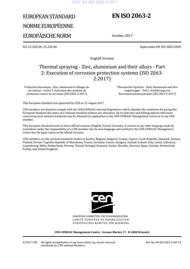 SIST EN ISO 2063-2:2017
