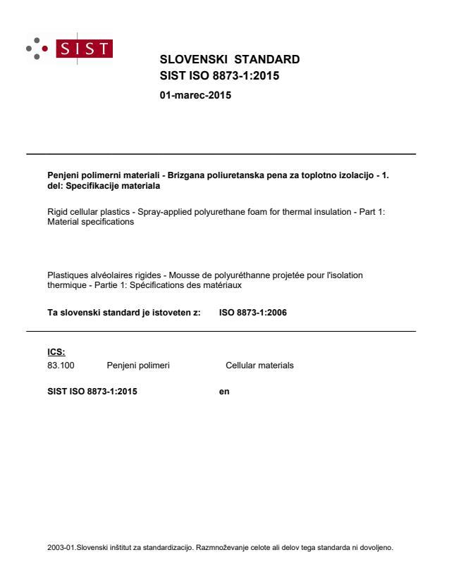 SIST ISO 8873-1:2015