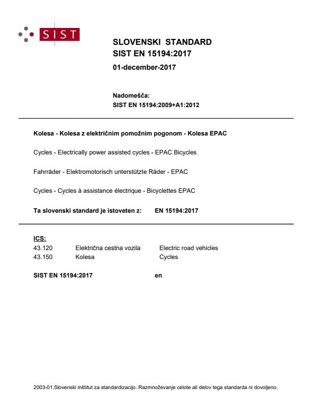 EN 15194:2017 - natisnjeno za čitalnico