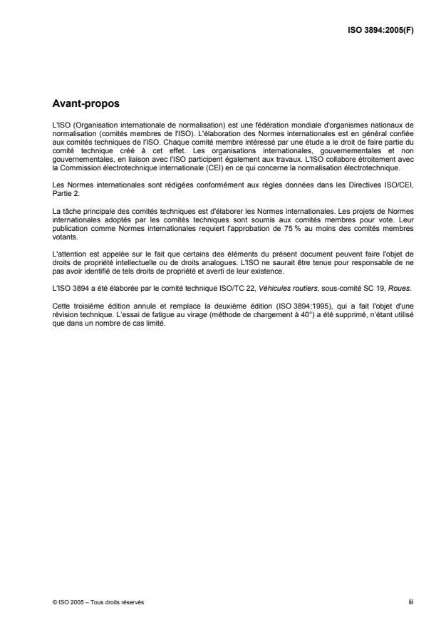 ISO 3894:2005 - Véhicules routiers -- Roues/jantes pour véhicules utilitaires -- Méthodes d'essai