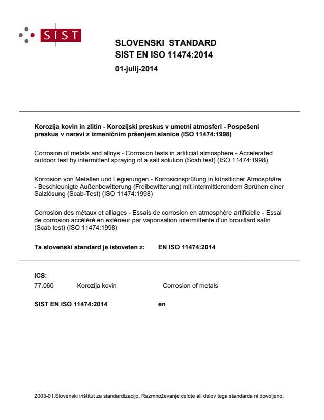 SIST EN ISO 11474:2014