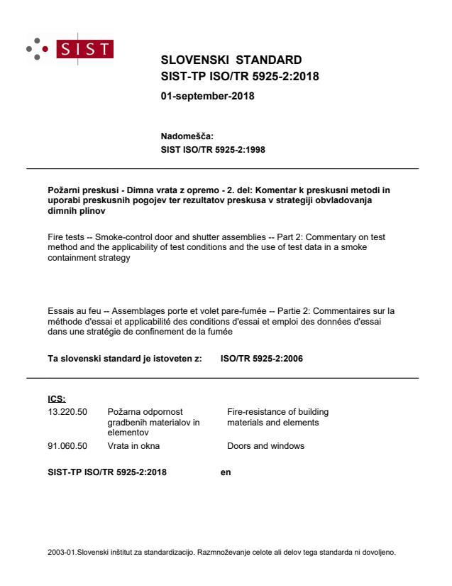 SIST-TP ISO/TR 5925-2:2018