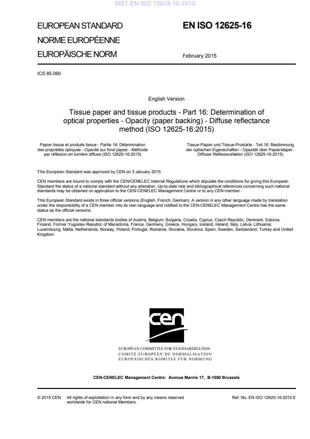 SIST EN ISO 12625-16:2015
