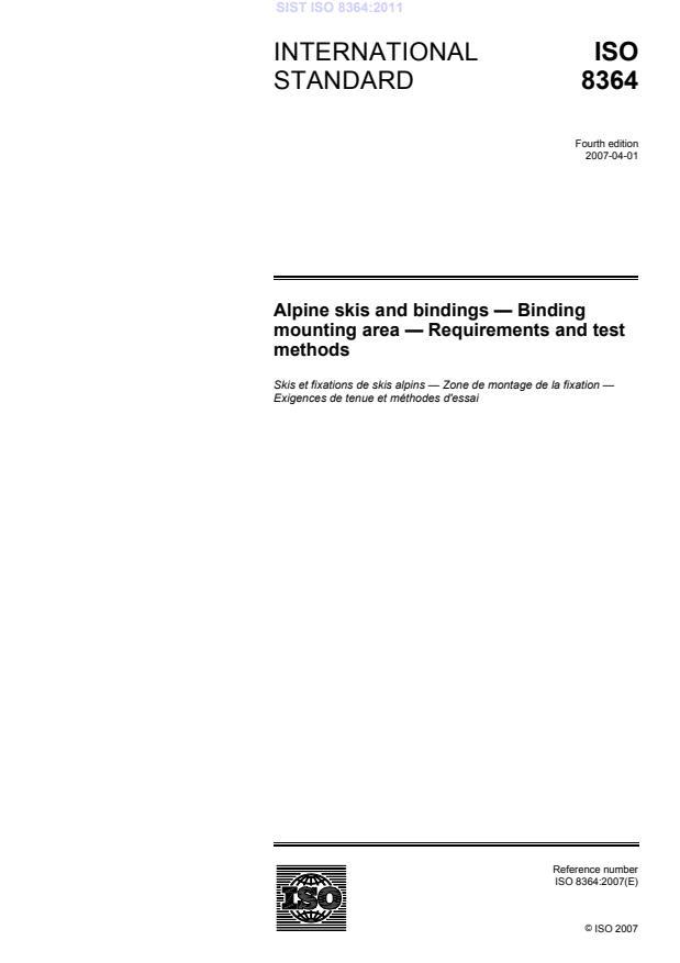 ISO 8364:2011 - natisnjeno za čitalnico