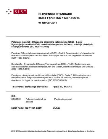 SIST EN ISO 11357-5:2014