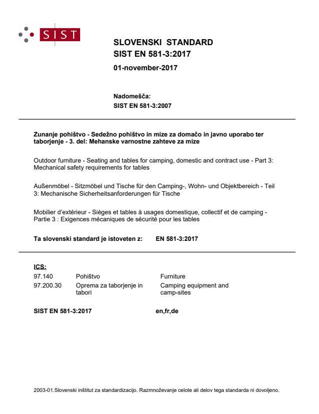 EN 581-3:2017