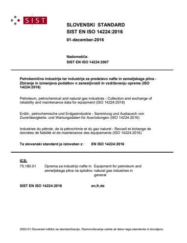 EN ISO 14224:2016