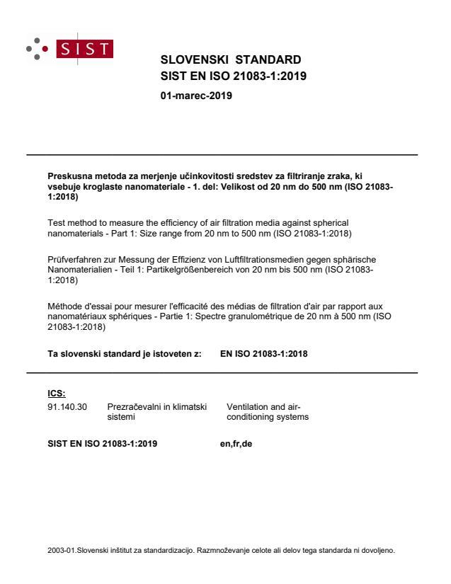 SIST EN ISO 21083-1:2019
