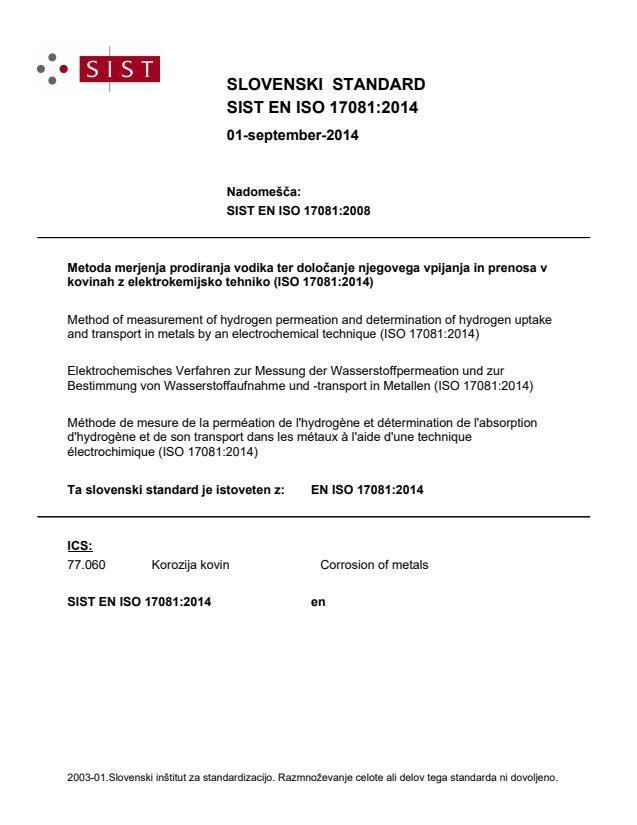 SIST EN ISO 17081:2014