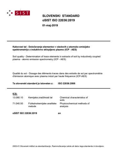 oSIST ISO 22036:2019