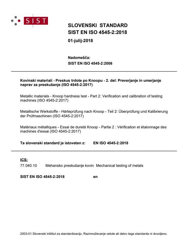 EN ISO 4545-2:2018