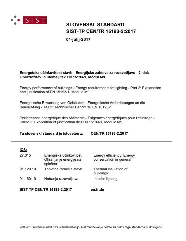 SIST-TP CEN/TR 15193-2:2017