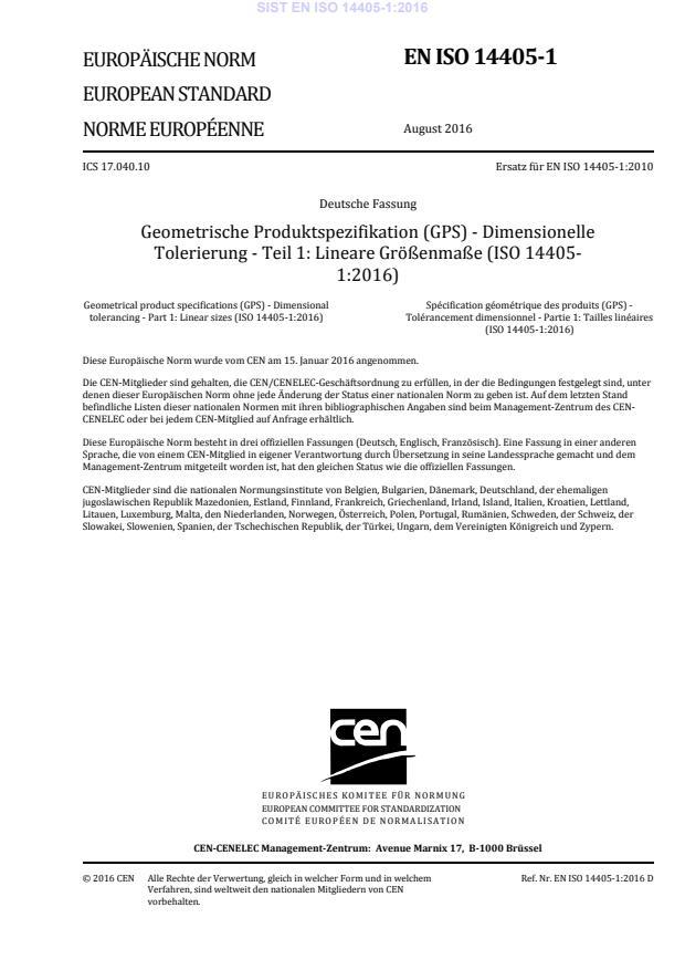 SIST EN ISO 14405-1:2016 (DE)
