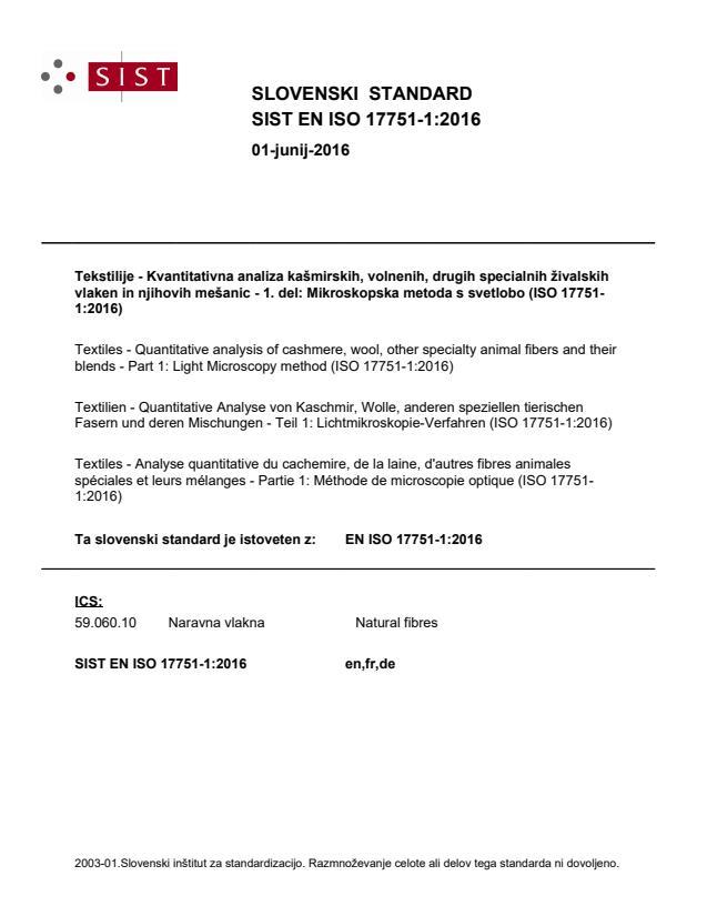 EN ISO 17751-1:2016 - BARVE