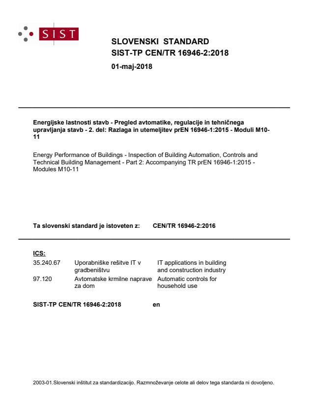 -TP CEN/TR 16946-2:2018 - BARVE