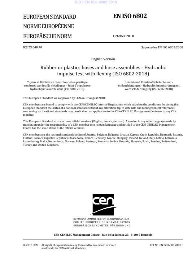 SIST EN ISO 6802:2019