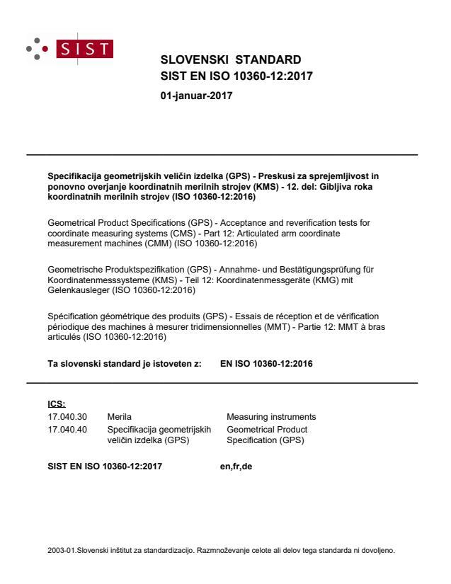 SIST EN ISO 10360-12:2017 - natisnjeno